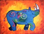 **KIDS AND KANVAS** Dancing Rhino