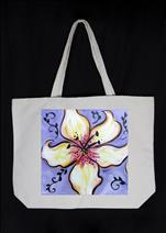 NEW! Canvas Tote Bag- Lillies!