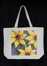 MAY FLOWERS -NEW CANVAS TOTE ! - Summer Sunflowers