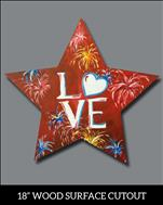 Fireworks Love Cutout (All Ages)