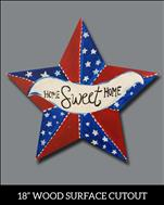 Home Sweet Home Star Cutout