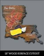Personalize your Crawfish Louisiana Wooden Cutout!