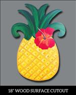*Teen Friendly, Wood Cutout* Aloha Pineapple