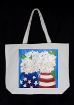 New! Patriotic Hydrangeas Tote