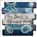 Paint Your Wood Sign! The beach is My Happy Place!