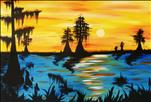 "BIG CANVAS! ""Magical Louisiana Sunset"""