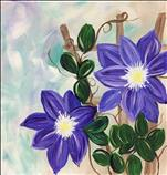 Climbing Clematis *NEW 12x12 art!