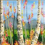 Graffiti Aspens **Square Canvas**