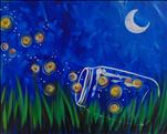 **COFFEE & CANVAS** Summer Fireflies ($25)