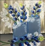 Country Bluebonnets 12x12 SQUARE CANVAS!