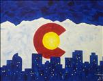 Late Night Paint Night! Colorado Flag