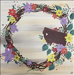 Hometown Love Wreath *Square Canvas*