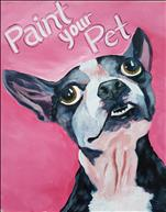 Paint Your Pet on 16x20 OR 12x12