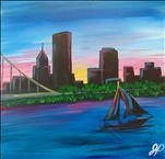 SQUARE CANVAS - Sailing Pittsburgh