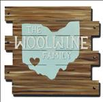 WOODEN CUTOUT: State Family