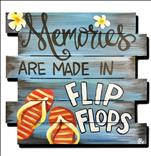 WOODEN CUTOUT: Flip Flop Memories