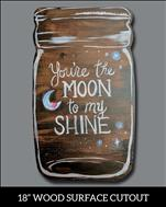 **wood cut-out** Moonshine Jar