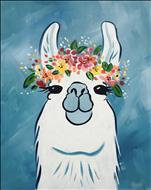 Flower Crown Llama - New! Family Friendly!