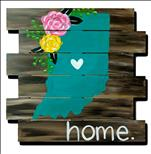 Rustic Indiana Love *WOOD BOARD*