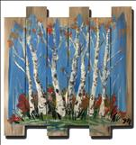 WOOD ART-Colorful Birches