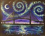 Starry Night Over Dames Point Bridge
