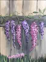 NEW ART! Lavender and Pink Wisteria