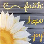 Faith, Hope, Joy *PINE PLANK BOARD*