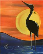 Heron at Water's Edge: ART in the Afternoon
