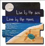 The Moon Turtle Pallet or Canvas