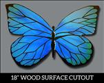 Blue Morpho WOOD CUT OUT / TEENS & UP