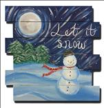 Let It Snow Man (on Pallet or Canvas)