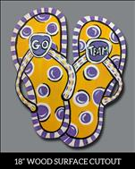 Team Colors Flip Flops Cutout,