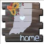 Rustic Fall Indiana *WOOD BOARD* $1 off Apple Pie