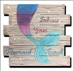 Mermaid Soul Wood Pallet
