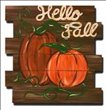 Rustic Pumpkin - on our wood pallet cut out!