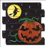 Door Wood Cutout! Scary Pumpkin (Ages 8+)