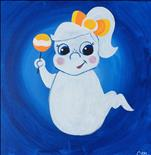 Candy Corn Cora 12x12 Canvas (All Ages)-Public