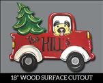 Vintage Christmas Truck Cutout: 16&Up - Customize!