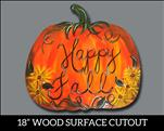 *New! - Happy Fall Pumpkin WOOD Cutout