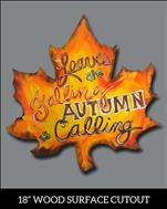 Leaves Are Falling-DECORATIVE WOOD CUT OUT!