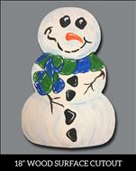 Bald Snowman {Wooden Cutout} Family Night
