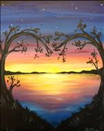 OR Lovely Lake Sunset - Single Canvas