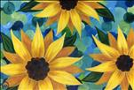 Sunflower Swirls - LARGE CANVAS
