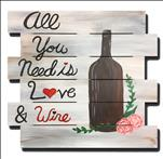 Rustic Wine and Love Pallet