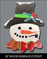 *DOOR HANGER* Snow-Kissed Snowman