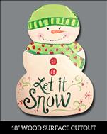 Let it Snowman! Cutout (CUSTOMIZE!) 13&Up