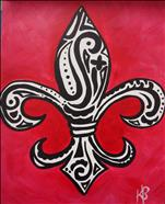 Paisley Fleur de Lis (Pick Your Colors)