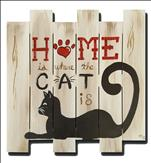 Home is Where the Cat is Pallet Cutout 2Hr $39