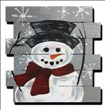 Holiday Snowman Wooden Pallet - Option 2