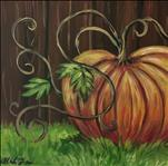 Plump Pumpkin! *New 12x12 Square Canvas*
